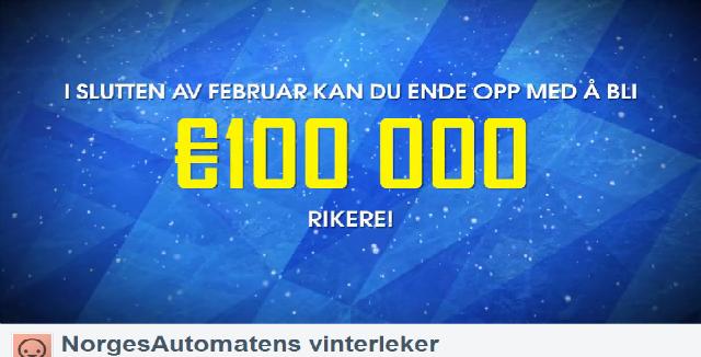 vinn 100 000 euro_Norgesautomaten