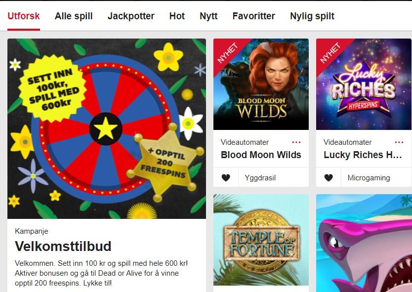Casino med free spins